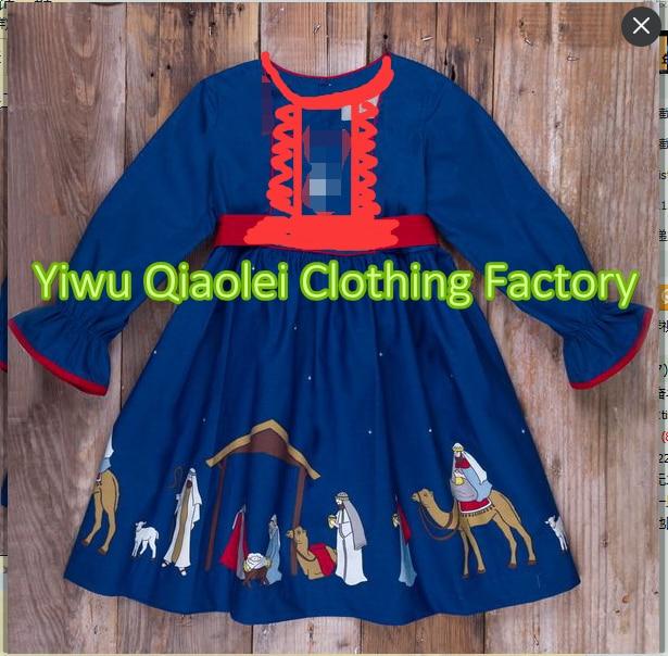 e835f5c0f1cb Hot sale girls christmas dress ruffle children frocks designs baby ...