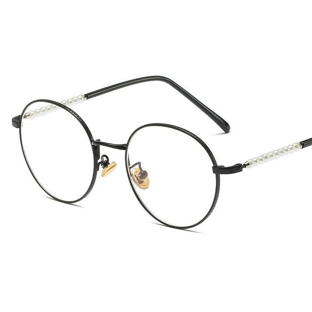 Haoyu Anti Radiation Anti Blue Ray Glasses Round Retro Optical ...