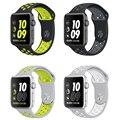 Для Apple Watch Ремешок Nike + Серии 2 Новые Силиконовые Спорта ремешок Ремешок Группа 38 м 42 мм для iWatch Группы Корреа Браслет 42 мм