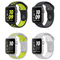 Para a apple watch strap nike + series 2 new silicone sports banda Cinta Banda 38 m 42mm para iWatch Correa da Banda Pulseira 42mm