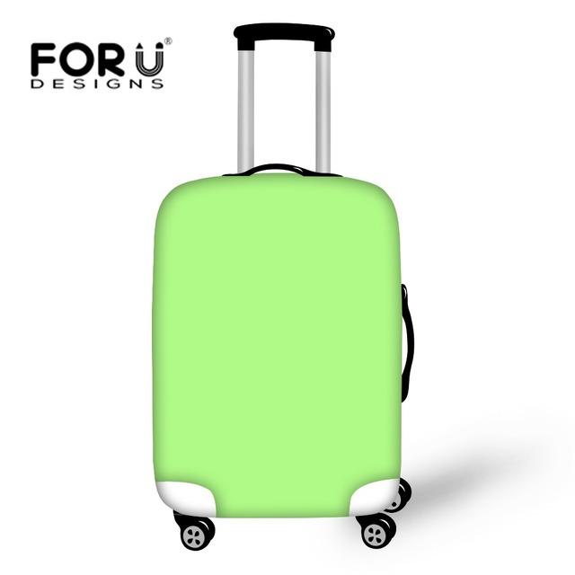 Forudesigns hot sólidos acessórios de viagem bagagem elástica protetora tampa da mala para ''-30''trunk caso à prova d' água capa de chuva