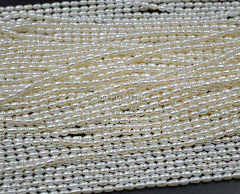 wholesale 10 strands 3 5 4mm freshwater rice pearl