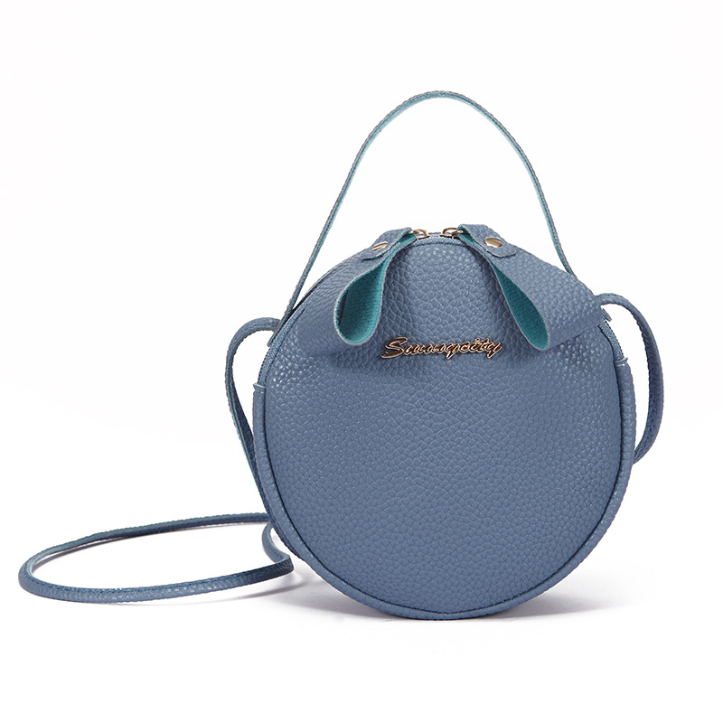 PU Leather Girls' Shoulder Bag Handbags 2019 Korean Style Women Small Crossbody Messenger Bag  Mini Round Pouch For Teenage Kids