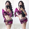 Newest Velvet Belly Dance Costume Set Professional Bellydance Top Skirt 2pcs Suits For Women Belly Dance