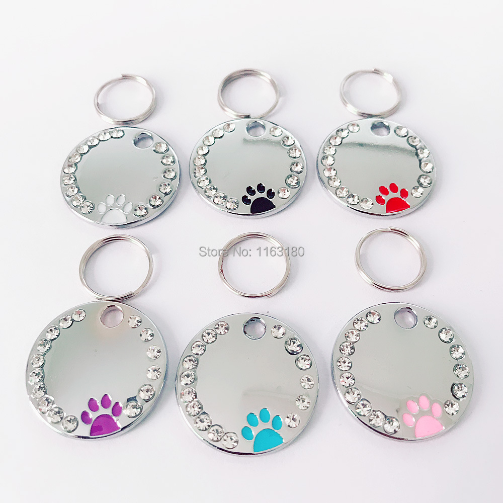 50pcs lot Engraved Dog Tag Personalized Pet Cat ID Tags Anti lost Kitten Puppy Tag Dogs