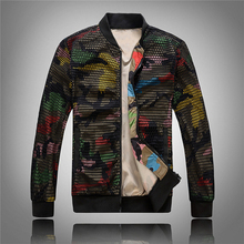 ФОТО joobox mens camouflage bomber jacket hollow out desige slim fit camo windbreaker puls size 5xl baseball jacket and coat for men