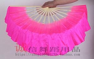 Image 3 - الصينية التقليدية البوليستر المشجعين الحجاب مع 2 الجانبين التدرج اللون المرحلة تظهر الدعائم المشجعين مزدوجة الجانب ألوان مختلفة