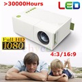 Mini Portable YG310 LED Projector Home Cinema Theater PC Laptop CVBS USB SD HDMI 400 Lumens 1080P LED home Cinema TV projector