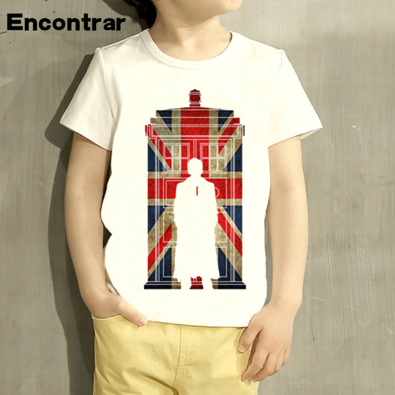 Childrens Doctor Who Design Baby Boys/Girl T Shirt Kids Funny Short Sleeve Tops Children Cute T-Shirt,HKP2068