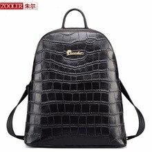 ZOOLER MARQUE femmes en cuir sacs à dos 2017 nouveau Classique véritable sac à dos en cuir de luxe supérieure sac d'école en cuir limitée G-928