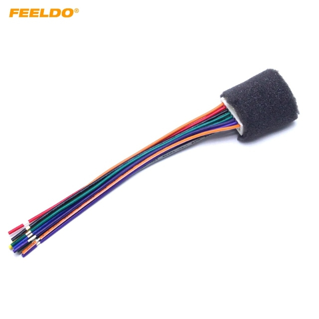 FEELDO 5Pcs Car Stereo Radio Wire Harness For Mitsubishi Lancer/Ford