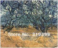 Vincent Van Gogh Peinture À L'huile reproduction sur toile de lin, Oliviers, 100% fait main, Expédition Libre de DHL, musée qualité