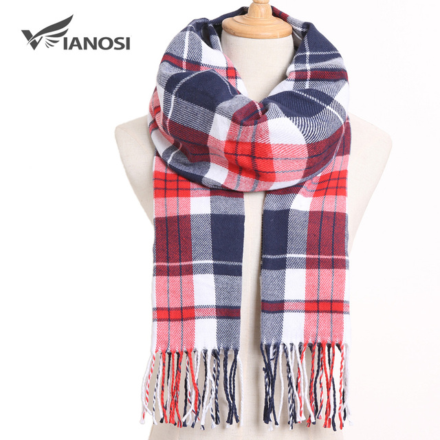[VIANOSI] Winter Women Scarf Brand Foulard Plaid Scarves Fashion Casual Poncho Scarfs Luxury Bufandas 2