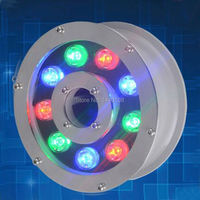 4pcs/lot LED Pool Light 9W RGB IP68 LED Swimming Pool Light Outdoor Lighting Floodlight Lighting Fountains Hot Sell