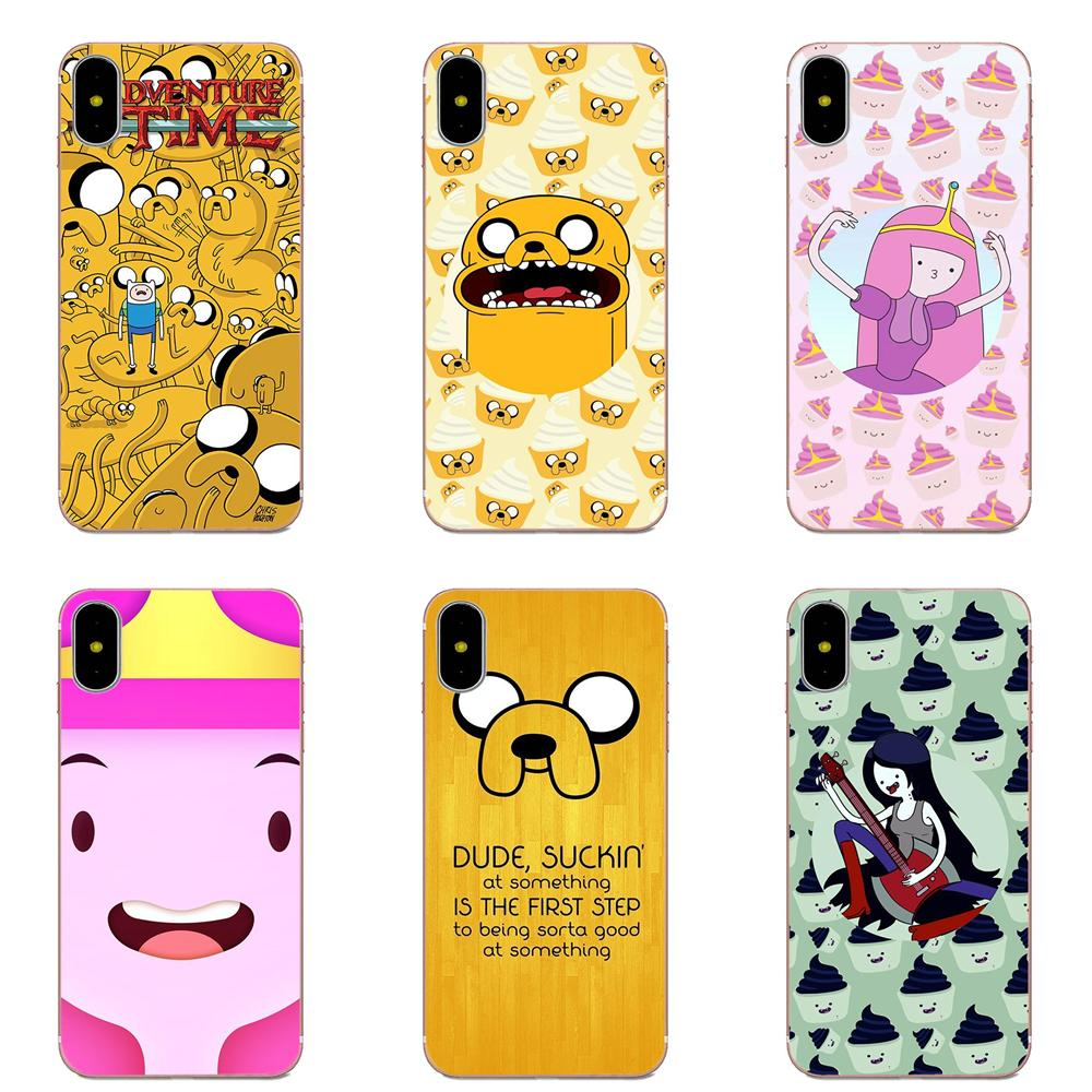 Cartoon Adventure Time For Galaxy Alpha Core Note 2 3 4 S2 A10 A20 A20E A30 A40 A50 A60 A70 M10 M20 M30 Soft TPU Fashion image