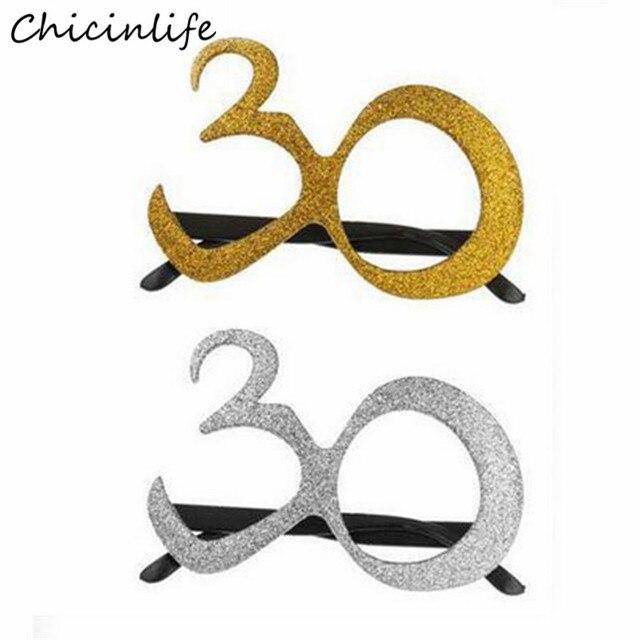 Chicinlife 1 Stucke Gold Silber 30 Geburtstag Glaser Frauen