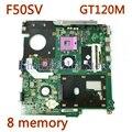 Материнская плата для ноутбука F50SV M.B.REV2.1 GT120M/8  материнская плата для ASUS F50 F50S X61S F50SV материнская плата для ноутбука протестирована  работает