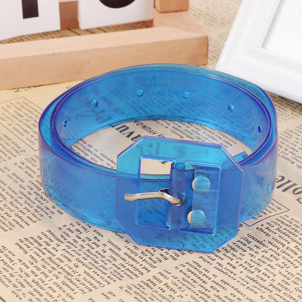Fashion Unisex Women Men Transparent Multicolor Belt Thin Waist Belt Wild Waist Accessories Belt Long Adjustable Waistband