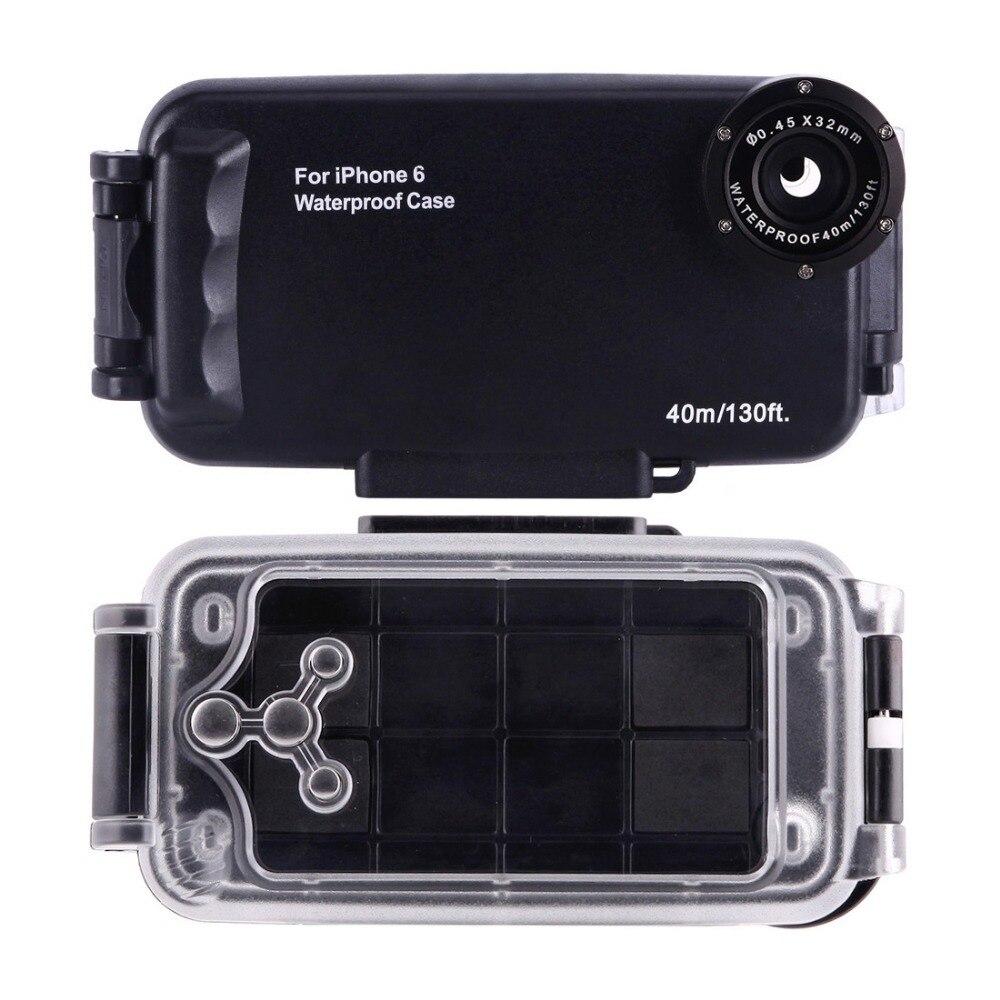 Voor iPhone 6 6 s 7 7 Plus 6 Plus Waterdichte Duiken Behuizing Cover Case PC ABS Zak Dirt/ shock Proof Foto Video Nemen Onderwater - 3