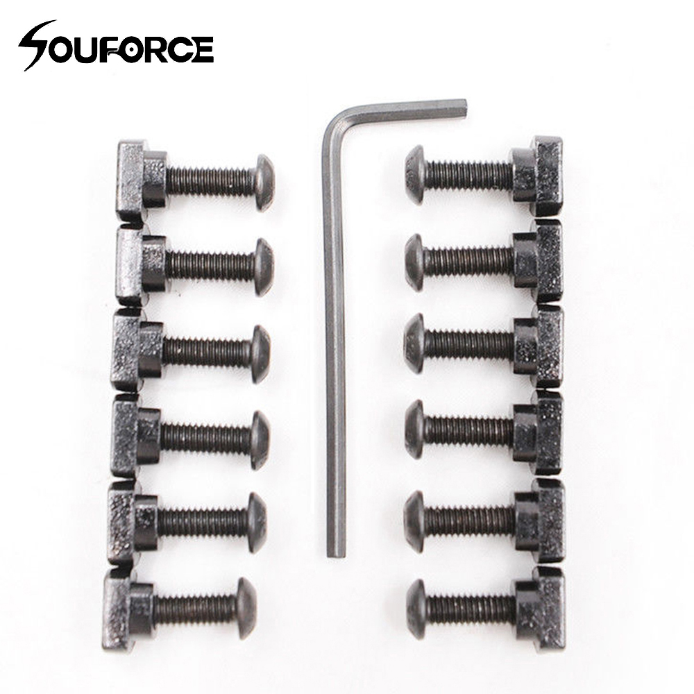 12Pcs Metal Screw And Nut Replacement Set Fit M-LOK Rail Sections For Hunting