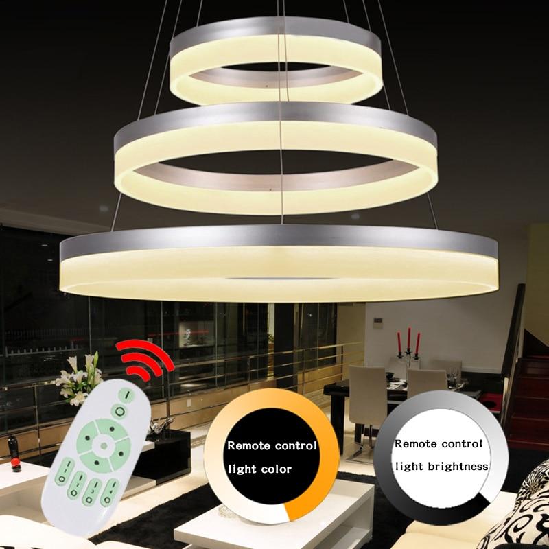 2016 Modern Led Pendant Lights Lustre Ring Lamp Acrylic