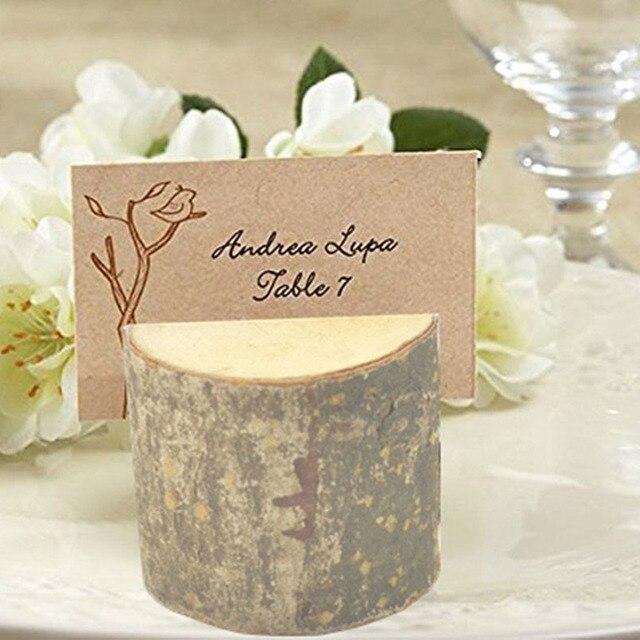 New Wooden Business Card Holder Wooden Wedding Supplies Seat Clip