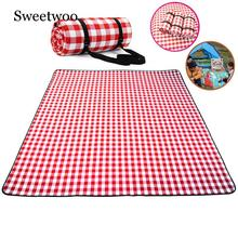 Thicken Pad Breathable Soft Blanket For Outdoor Folding Waterproof Camping Beach Plaid Picnic Mat