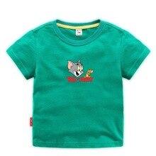2019 summer new boys and girls T-shirt Tom Jerry round neck loose cotton cartoon bottoming shirt black shirts