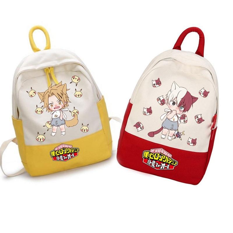 My Hero Academia Student Backpack Anime Schoolbag Leisure Oxford Computer Bag Women Men School Bags Teenage Girls Boys