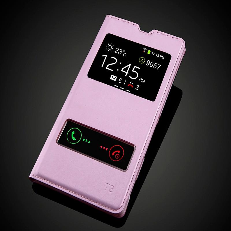Sony Xperia T3 M50W D5103 Moda Görünüşü Pəncərə Dəsti PU - Cib telefonu aksesuarları və hissələri - Fotoqrafiya 6