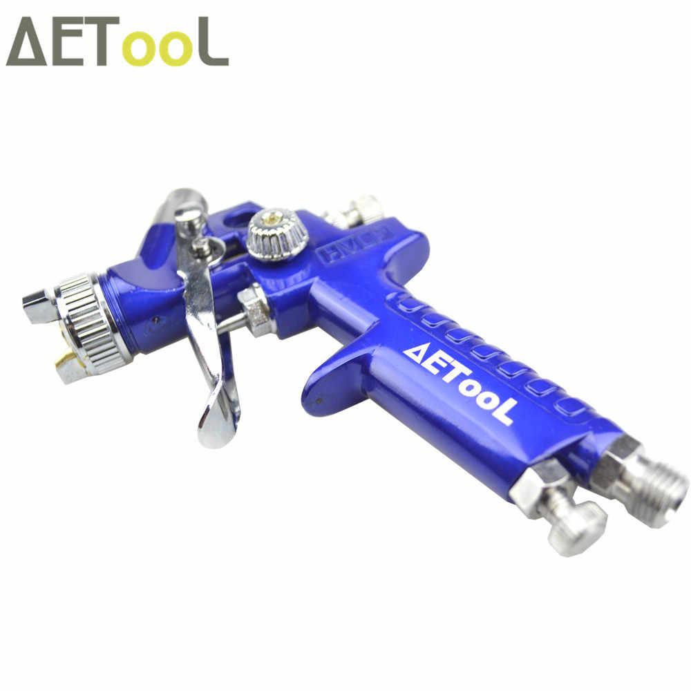 AETool Professionele 0.8mm HVLP Spuitpistool Mini Air Paint Guns Airbrush met Air Regulator Gauge voor Schilderen Auto Aerograph