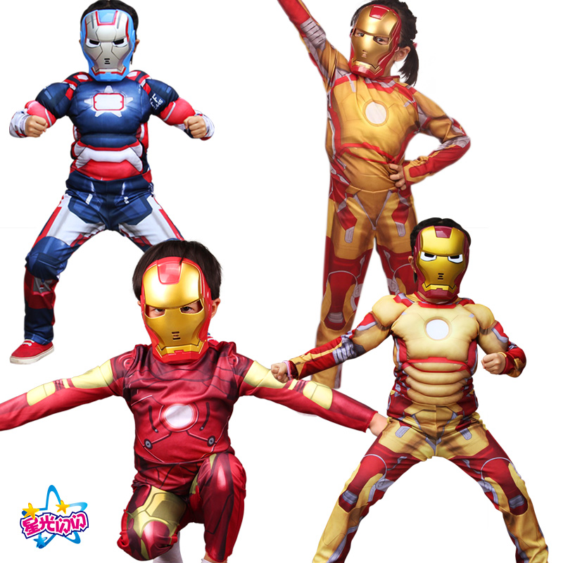 Gratis forsendelse Superhero Muscle Batman Captain America Iron Man - Kostumer - Foto 2