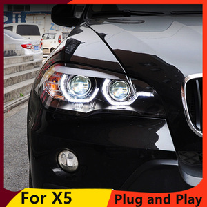 Image 3 - KOWELL Car Styling For BMW X5 e70 2007 2013 Headlight for BMW X5 Head Lamp Auto LED DRL Double Beam H7 HID Xenon bi xenon lens