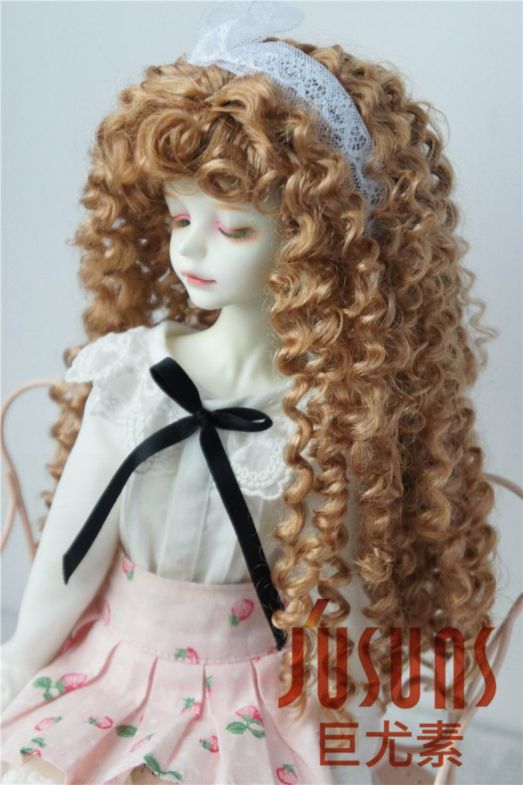JD145  MSD synthetic mohair doll wigs size 7-8inch Long curly BJD hair  1/4 Doll accessories