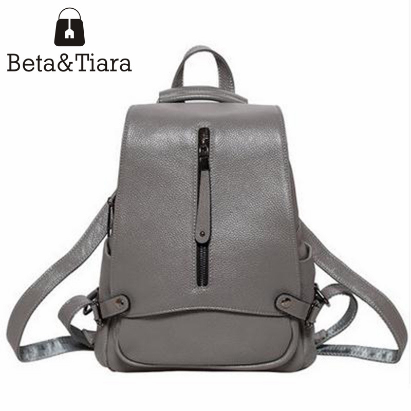 Genuine leather anti-theft backpack women travel backpack ladies cow leather bags large capacity backpacks mochilas mujer 2017