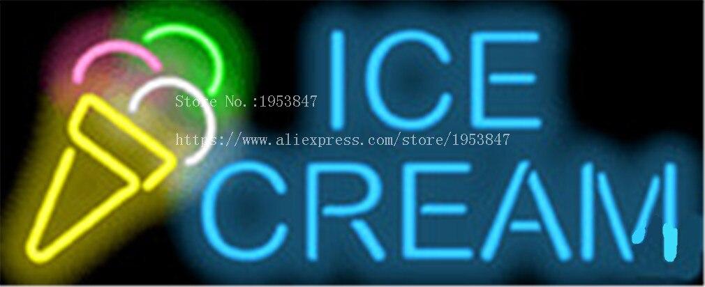 """17*14 """"eis Neonzeichen Real Glas Bier Bar Pub Licht Zeichen Shop-display Restaurant Shop Gelegentliche Werbung Lichter Lassen Sie Unsere Waren In Die Welt Gehen"""