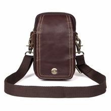 Vintage Genuine Leather Mans Waist Bag Fanny For Male Belt Phone Case 5004C