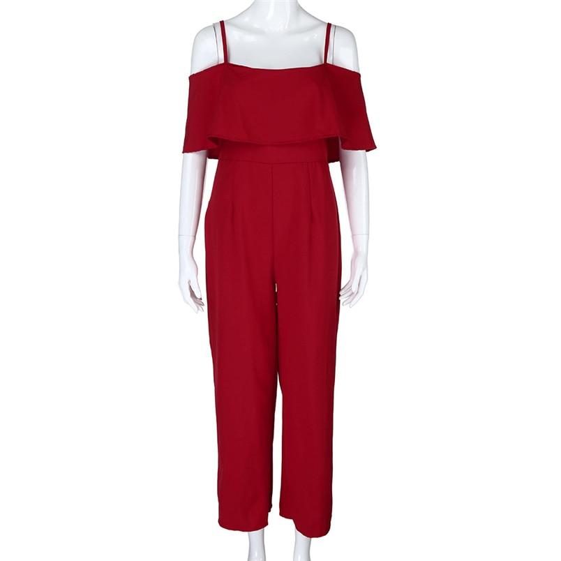 Jumpsuit Summer Women Long 2018 New Brand Hollow Out Bodysuits Sexy Clubwear Wide Legs Pants Elegant Jumpsuit combinai #J08 (6)