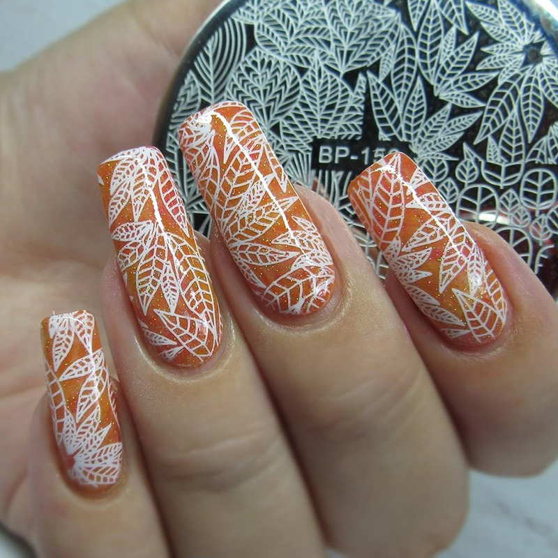 BORN PRETTY Round Nail Stamping Plate Makeup Lipstick Unicorn Vegetable Star Poker Cards Stencil Manicure Nail Art Image Plate