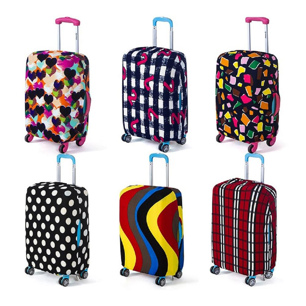 Thicker Travel Suitcase Protective Cover Luggage Case Travel Accessories Elastic Luggage Dust Cover Apply To 18-28 Suitcase