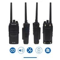 מכשיר הקשר Vineyuan K12 צריכת חשמל גבוהה 12W ארוך טווח 6800 mAh מכשיר הקשר UHF 400-470 Mhz שני הדרך רדיו כף יד FM משדר Interphone (2)
