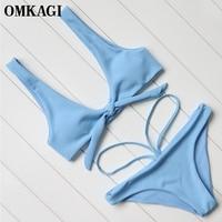 OMKAGI Brand Brazilian Bikinis Women 2017 Swimsuit Swimwear Women Sexy Push Up Bikini Set Swimming Bathing