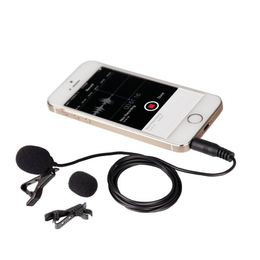 Lavalier отворот микрофон LVM3 микрофон с зажимом и муфта для лобового стекла для iPhone iPad DSLR камера Запись Youtube интервью видео