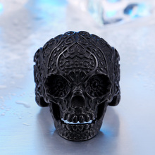 Garden Flower Skull Ring