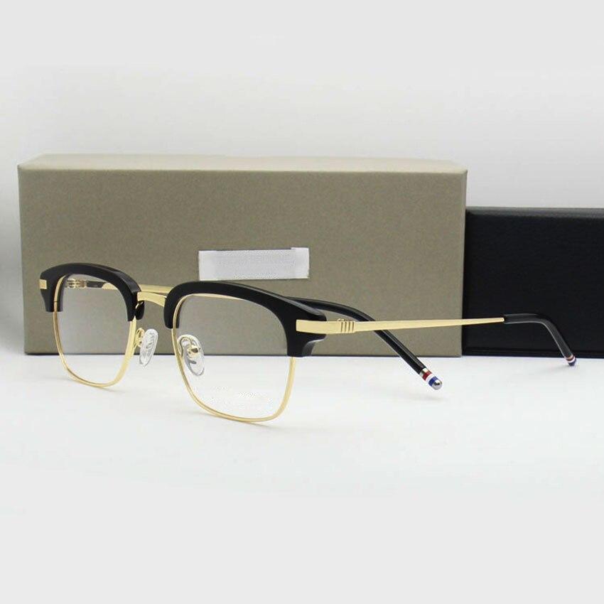 2019 Thom Brand Men's Glasses Optical Prescription Glasses Frame for Men and Women Retro Rectangle Spectacles oculos de grau