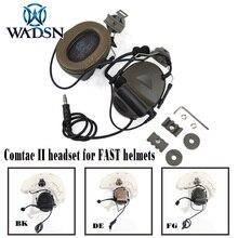 WADSN Comtac II Softair гарнитура с пелтором шлем рельсовый адаптер Набор для быстрых шлемов военный страйкбол тактический C2 наушники Z031