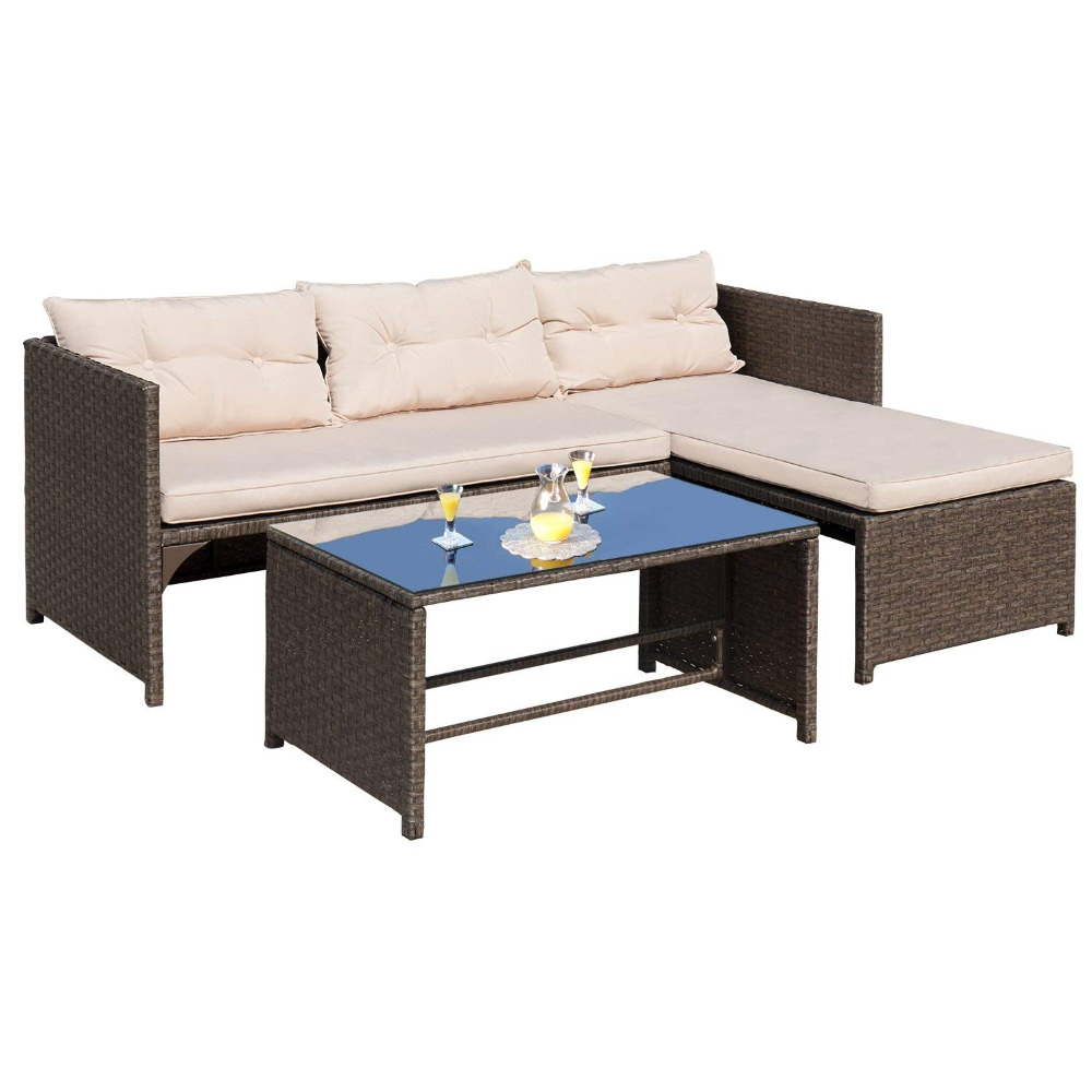 Fabulous Patio Furniture Sets 4 Pc Wicker Outdoor Sofa Set Rattan Inzonedesignstudio Interior Chair Design Inzonedesignstudiocom