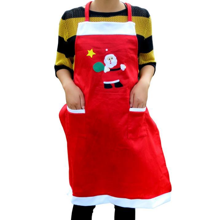 Genereus 100 Stks/partij X'mas Party Decoraties Fancy Kerstman Sneeuwpop Patroon Schorten Rode Kerst Koken Festival Diner Levert