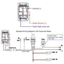 OOTDTY 5PIN Car Marine Boat Rocker Toggle Switch LED Light Bars ON OFF 12V/20A 24V/10A =