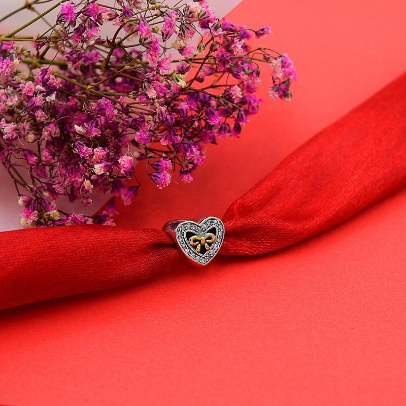 Caliente de plata europea CZ Charm Beads Fit Pandora estilo pulsera - Bisutería - foto 3